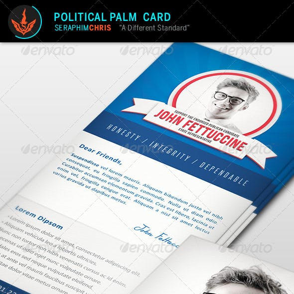 Political Palm Card Template
