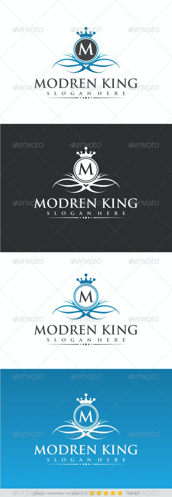Modren King - Crests Logo Templates