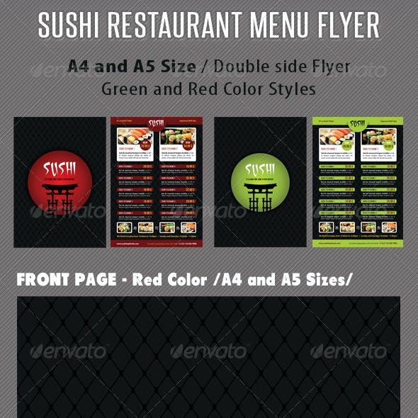 Sushi Restaurant Menu Flyer V03