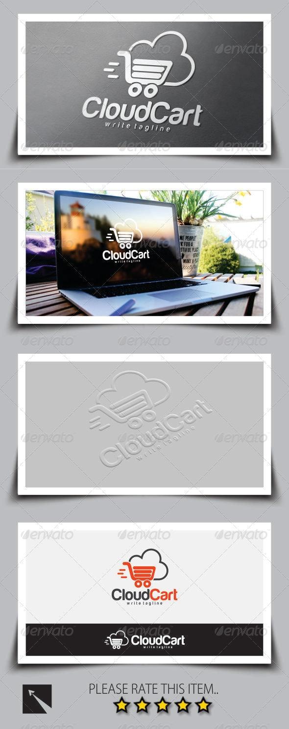 Cloud Cart Shopping Logo Template - Symbols Logo Templates