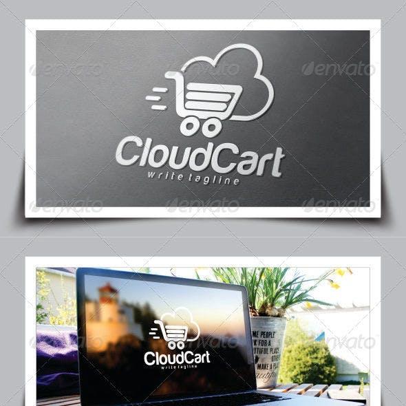 Cloud Cart Shopping Logo Template