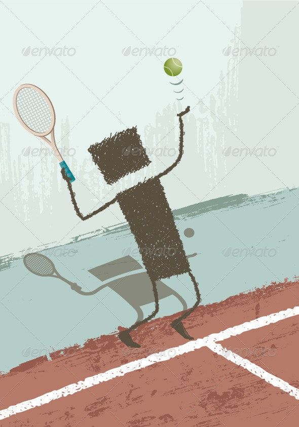 Tennis Player - Sports/Activity Conceptual