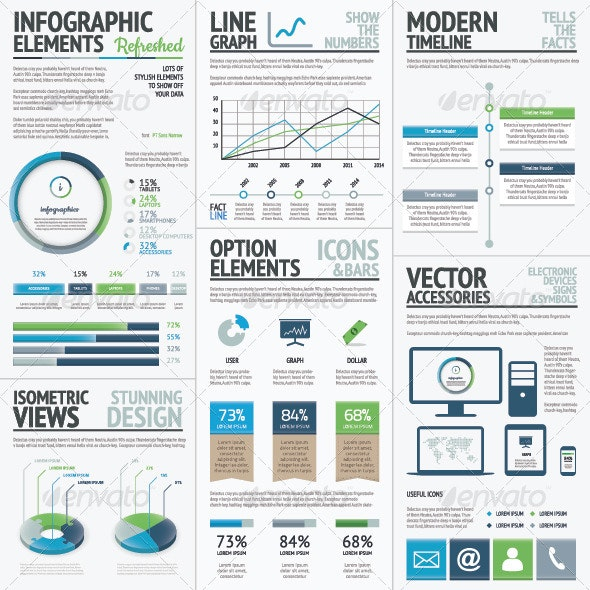 Finance, Economy and Business Vector Infographic - Infographics