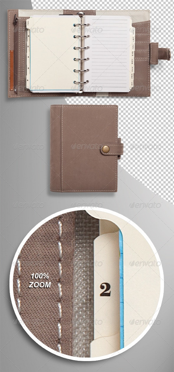 Pocket Organiser Diary Photo-realistic Isolated - Home & Office Isolated Objects