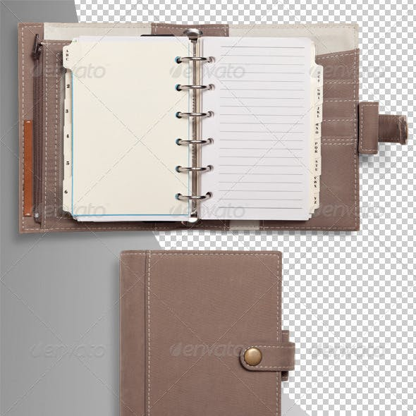 Pocket Organiser Diary Photo-realistic Isolated