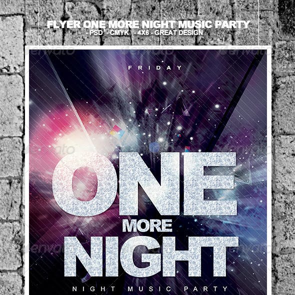 Flyer One More Night Music Party
