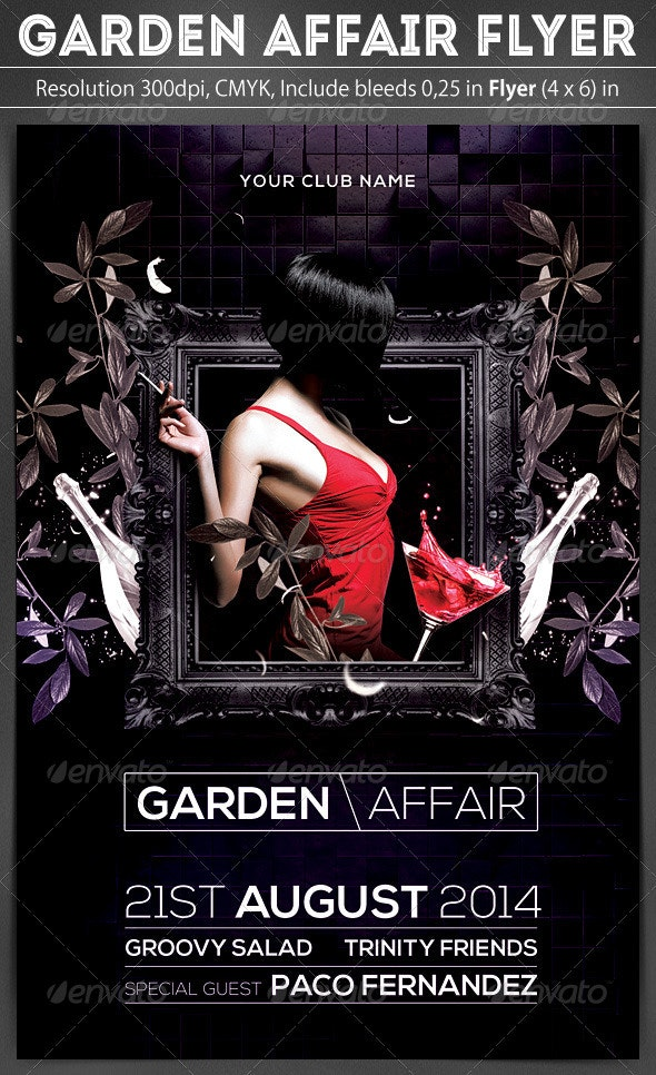 Garden Affair Flyer - Clubs & Parties Events