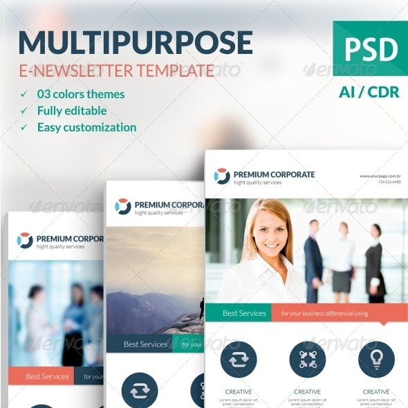 Multipurpose E-newsletter Template