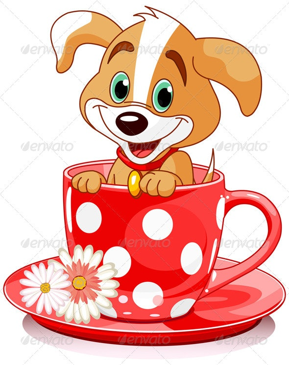Dog in a Tea Cup - Animals Characters
