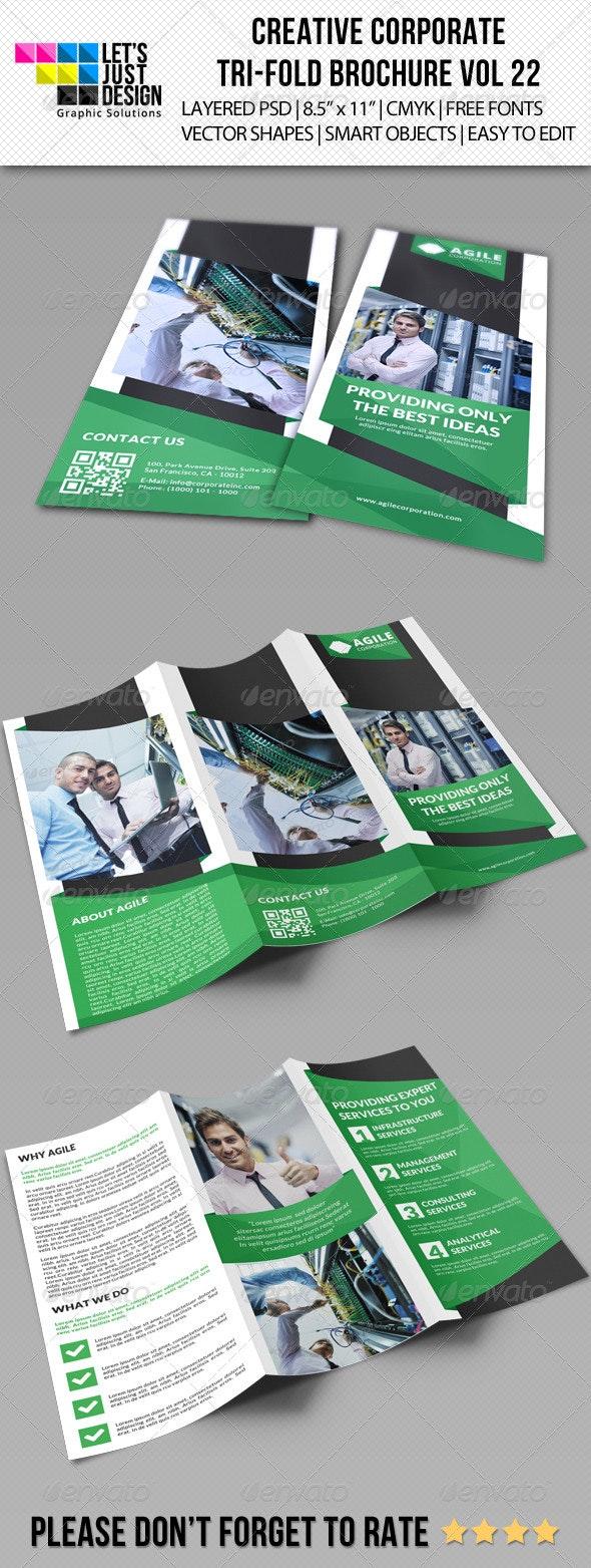 Creative Corporate Tri-Fold Brochure Vol 22 - Corporate Brochures