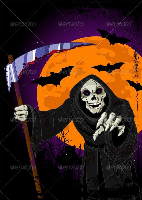 Halloween Grim Reaper  - Monsters Characters