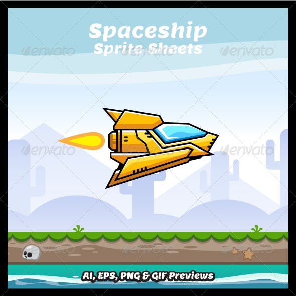 Spaceship Sprite Sheets