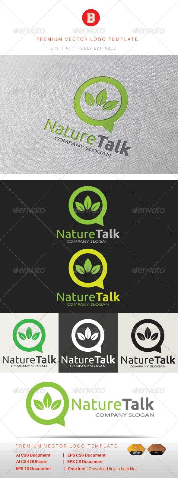 Nature Talk - Nature Logo Templates