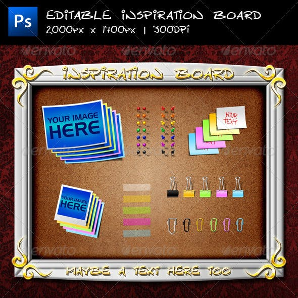 Editable Inspiration Board