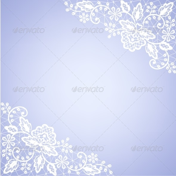 Lace Fabric White Frame - Backgrounds Decorative