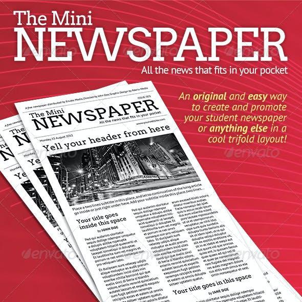 Mini Newspaper Trifold Template!
