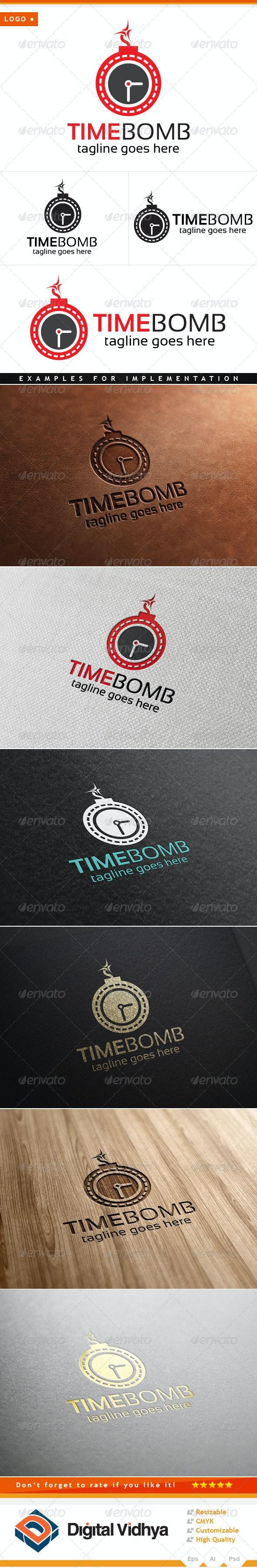 Time & Bomb Logo - Symbols Logo Templates