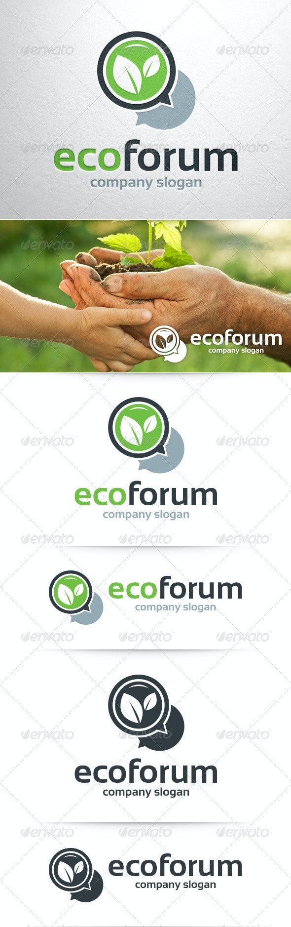 Eco Forum Logo Template - Nature Logo Templates