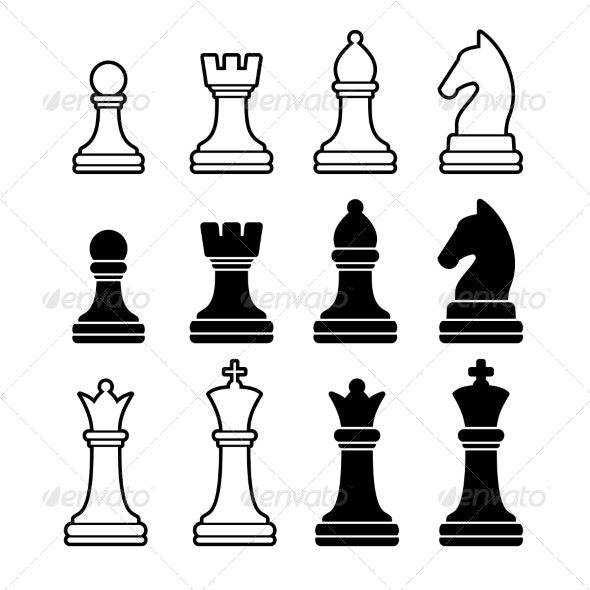 Chess Pieces - Sports/Activity Conceptual