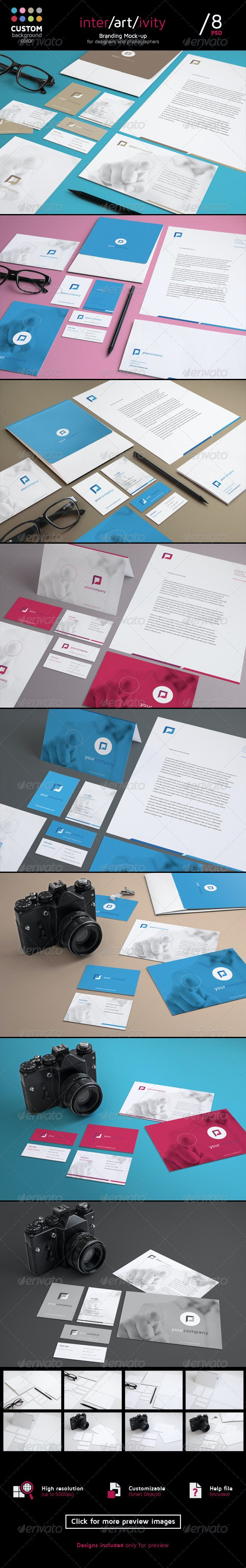 Stationery Mock-Up Set  - Stationery Print