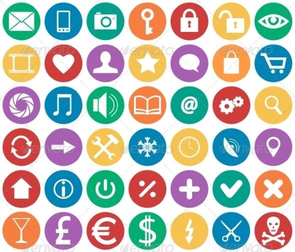 Icons for Apps - Decorative Symbols Decorative