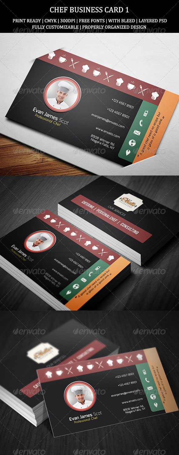 Chef Business Card 1 - Industry Specific Business Cards