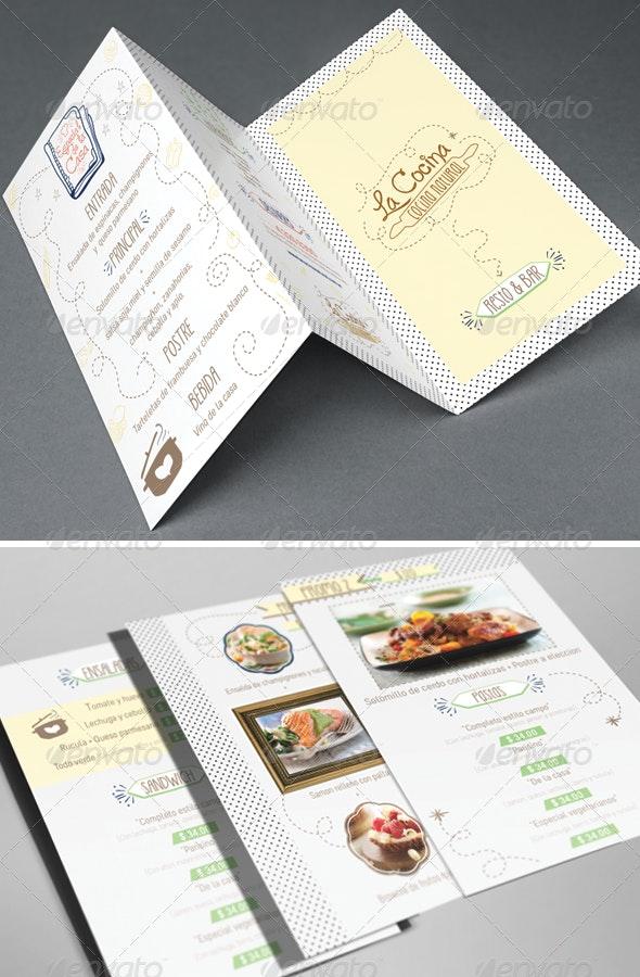 Resto & Bar Menu - Restaurant Flyers