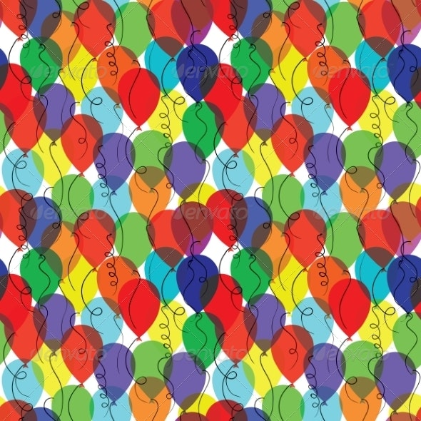 Seamless Background with Balloons - Miscellaneous Seasons/Holidays