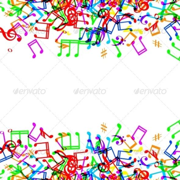 Music Notes Border - Borders Decorative