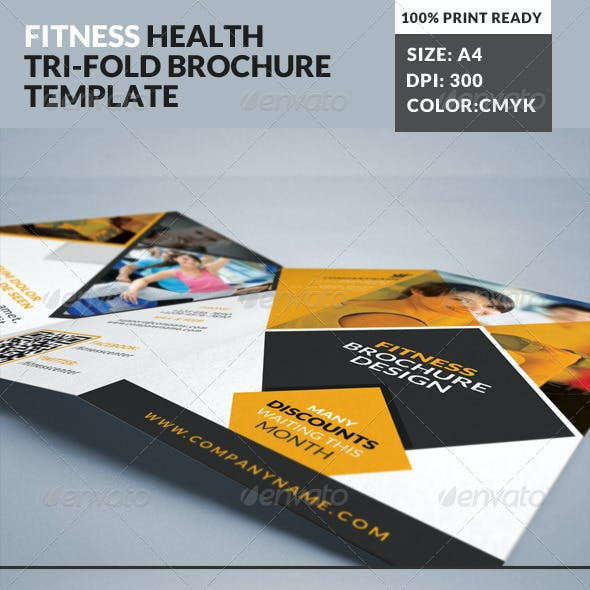 Fitness Gym Tri-Fold Brochures Template 2
