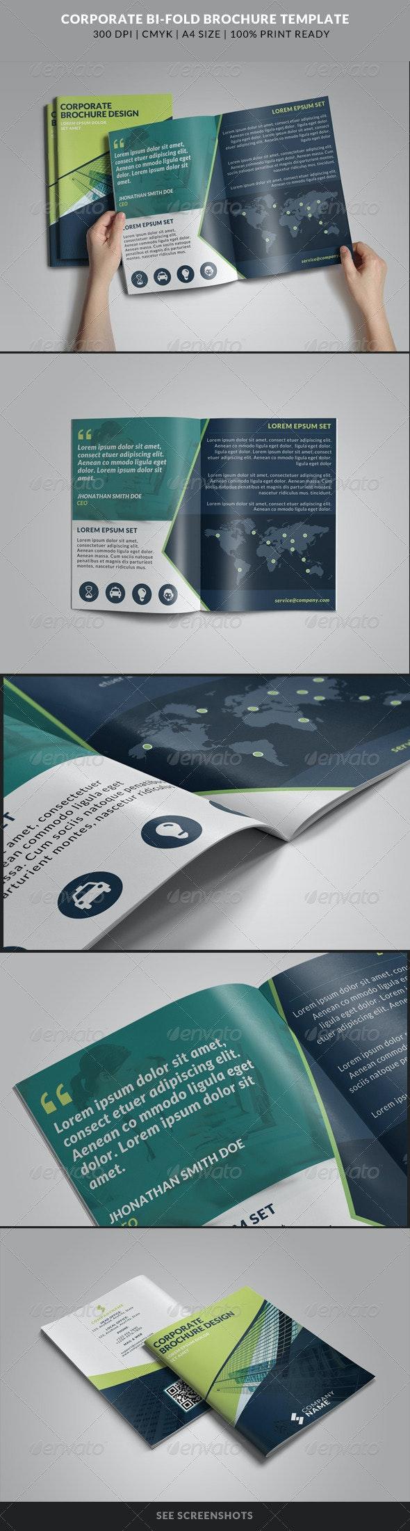 Corporate Bi-Fold Brochures Template 12 - Corporate Brochures