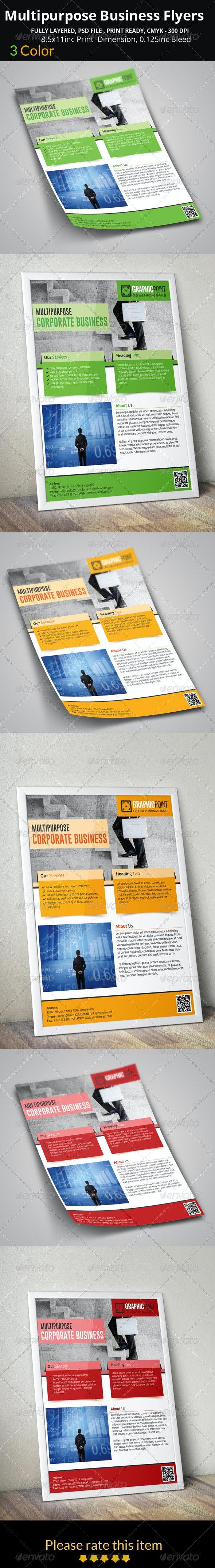Multipurpose Business Flyers - Flyers Print Templates