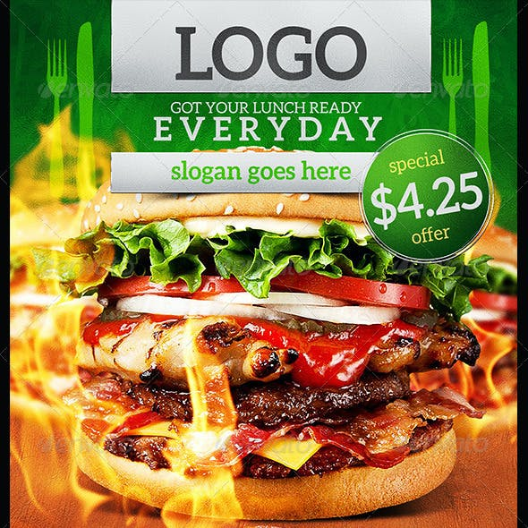 Grilled Burger Promotional Flyer