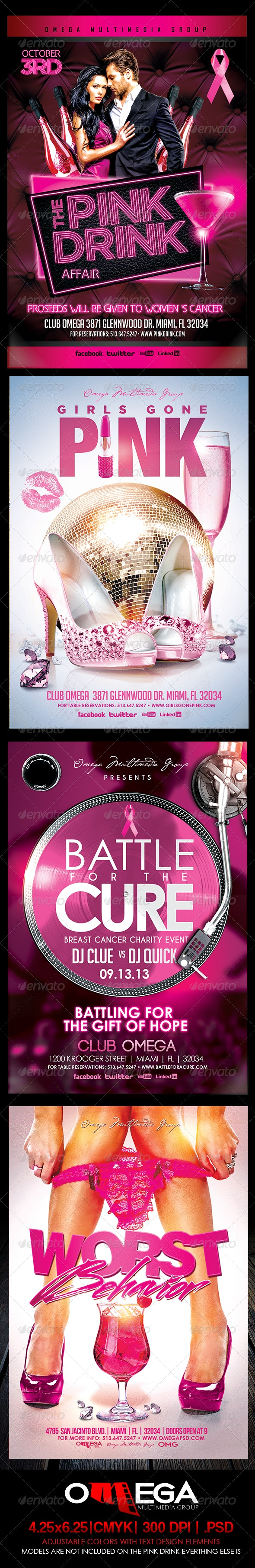 The Pink Bundle - Events Flyers