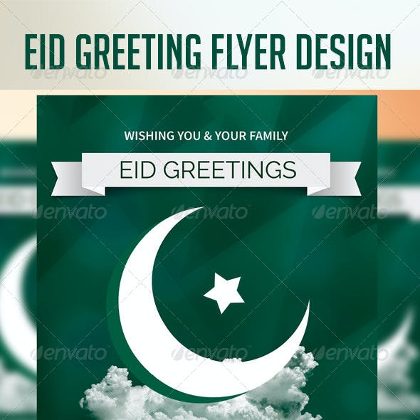 Eid Greeting Flyer Design