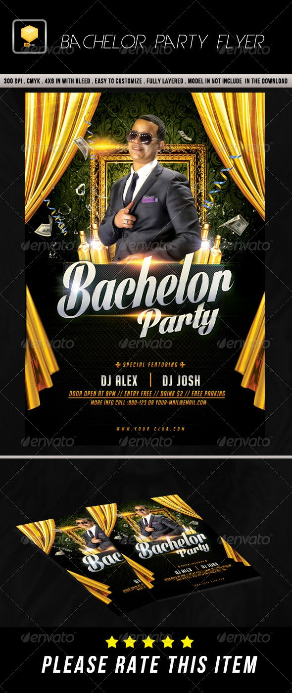 Bachelor Party Flyer - Clubs & Parties Events