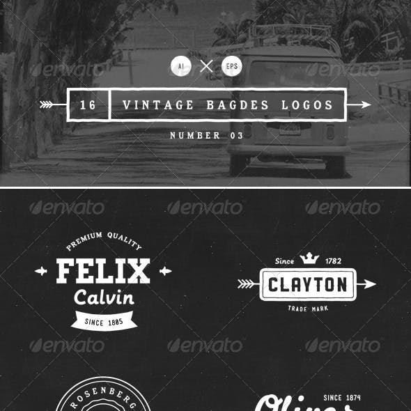 16 Vintage Badges Logos Number 03
