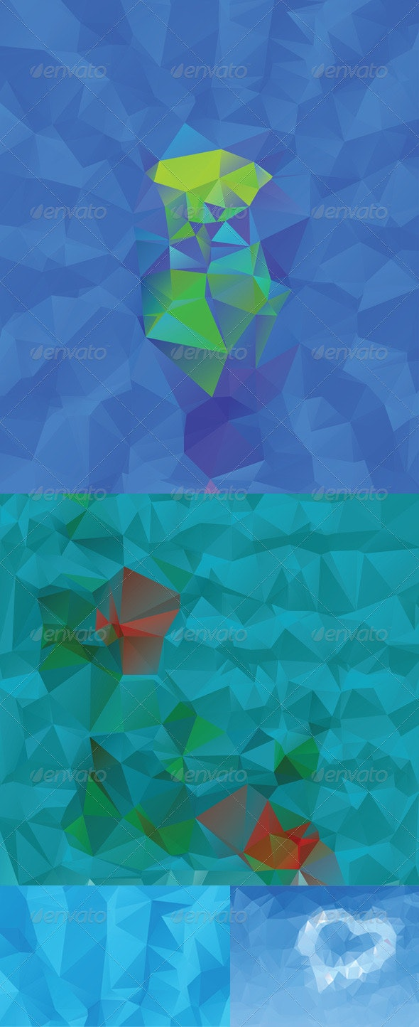 Abstract Blue Geometric Background - Miscellaneous Vectors