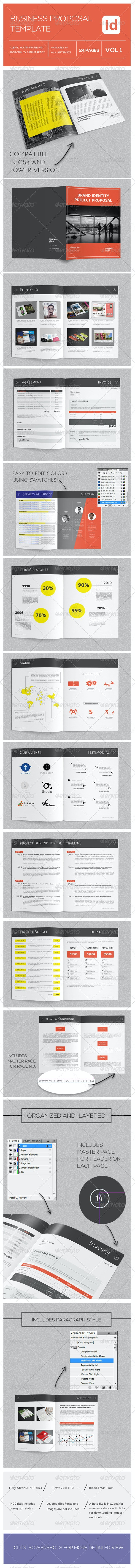 Business Project Proposal Template - Proposals & Invoices Stationery