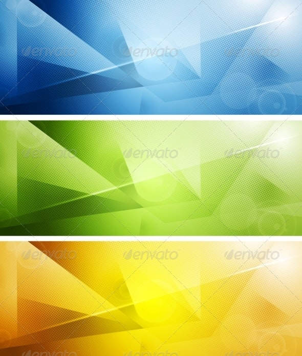 Tech Shiny Banners - Backgrounds Decorative