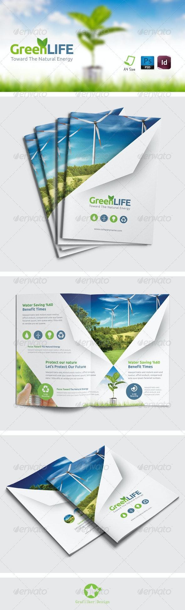 Green Energy Brochure Templates - Brochures Print Templates