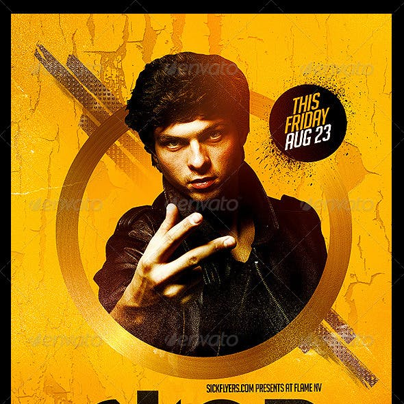 Dj Abstract Flyer Template