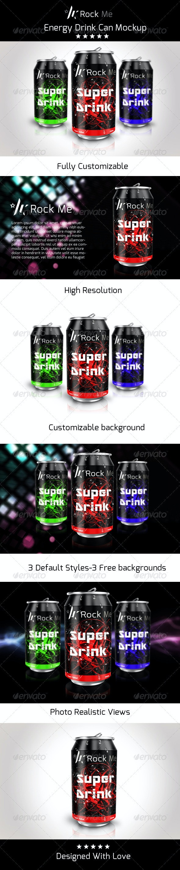 Rock Me Can Mock up - Product Mock-Ups Graphics