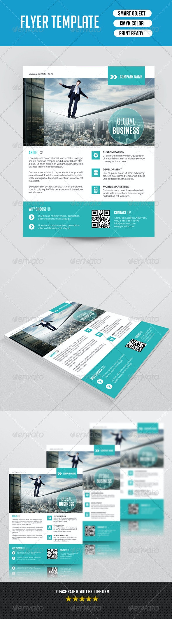 Corporate Flyer Template-V91 - Corporate Flyers