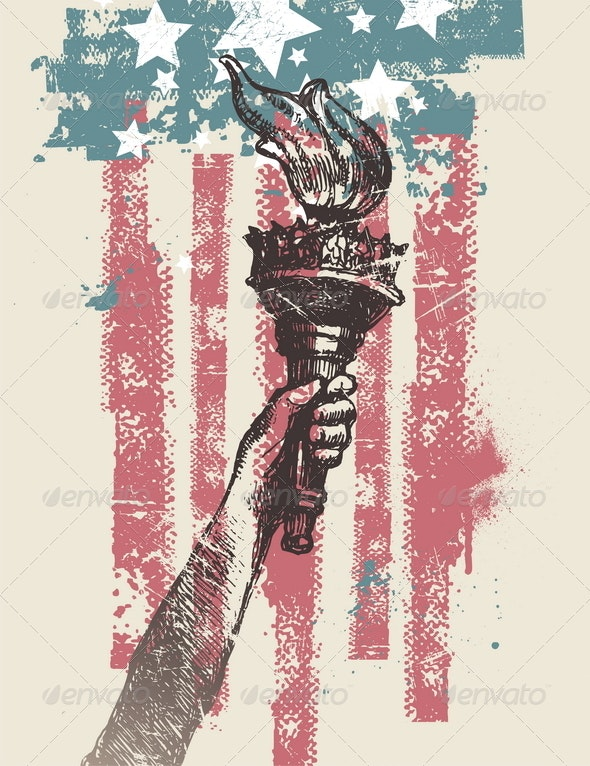 USA Patriotic Vector Illustration - Miscellaneous Seasons/Holidays