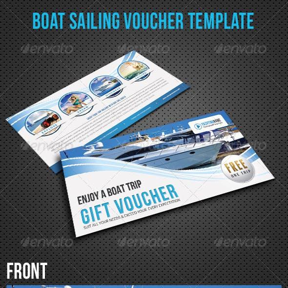 Boat Sailing Gift Voucher V22