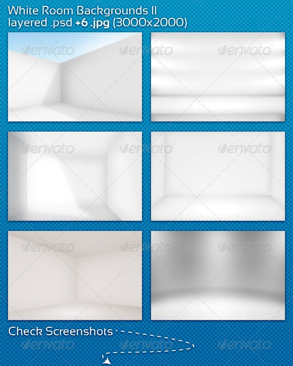 White Room Backgrounds II - 3D Backgrounds