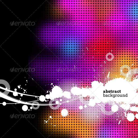 Abstract Multicolored Grunge Background - Backgrounds Decorative