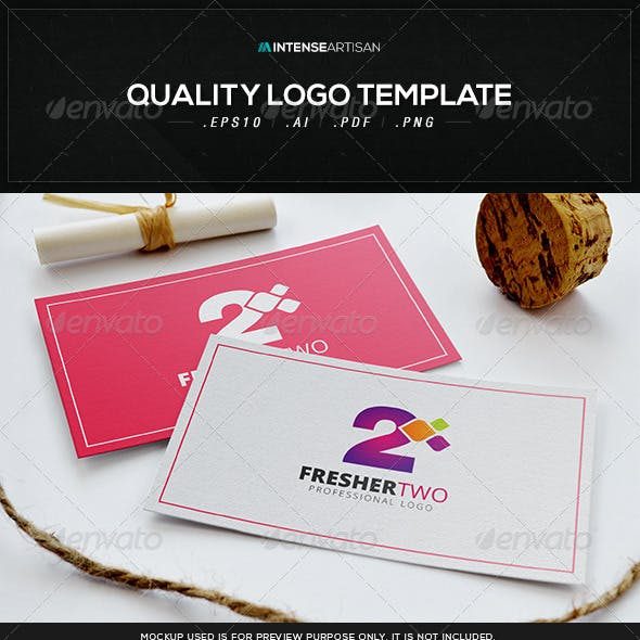 Fresher Two Logo Template