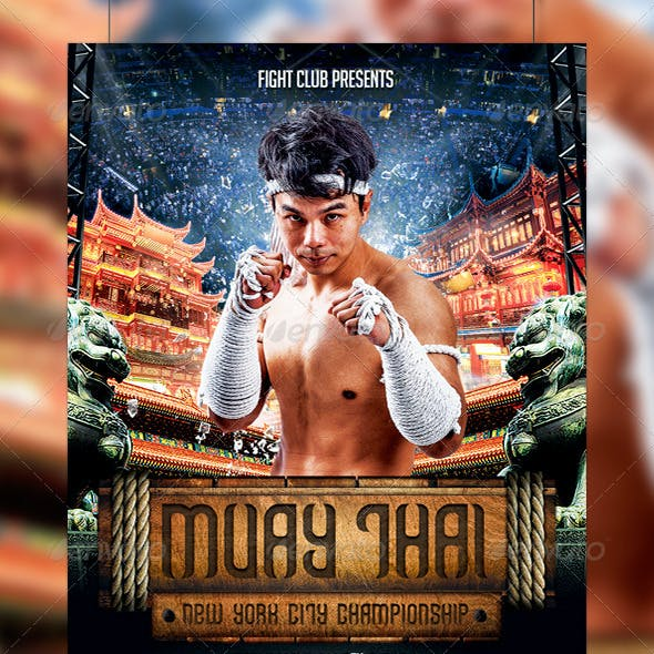 Muay Thai Flyer Template